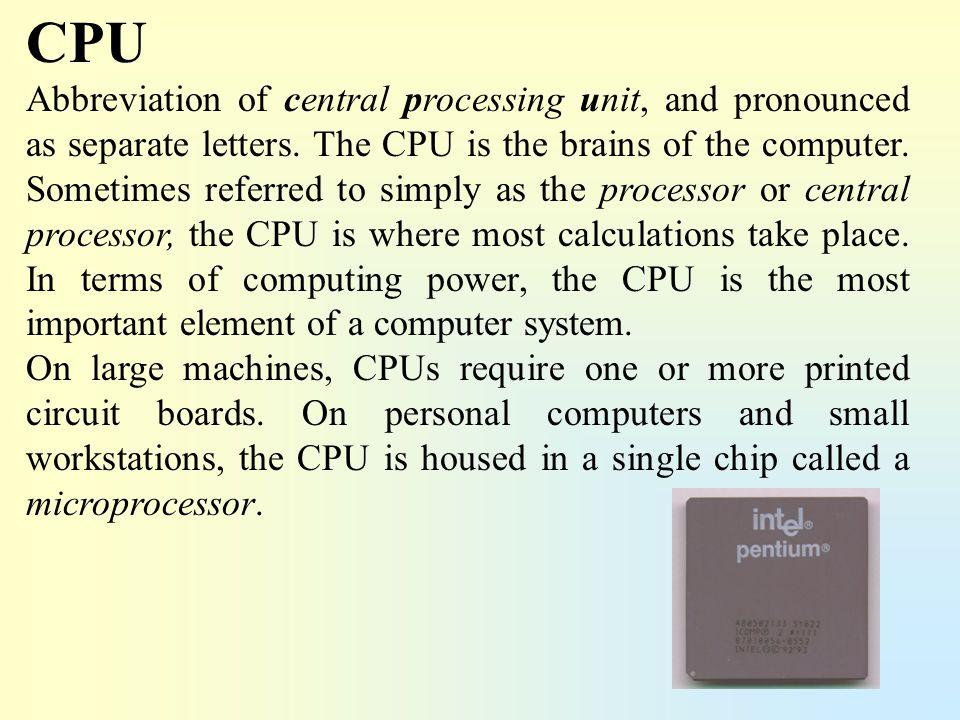 Microprocessor A microprocessor is a computer processor on a microchip.