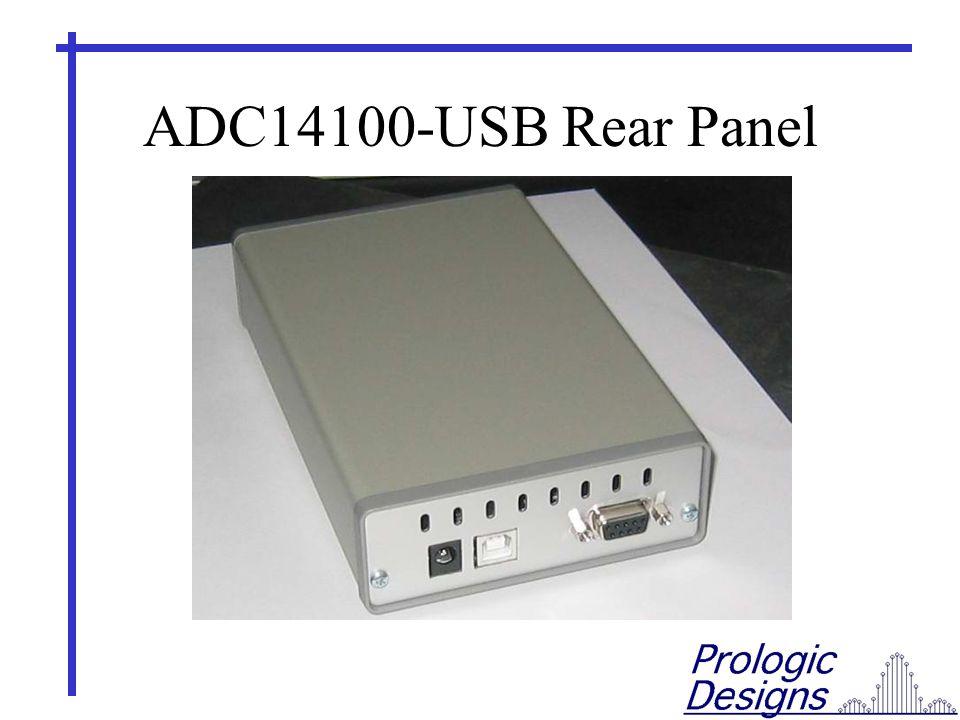 ADC14100-USB Rear Panel