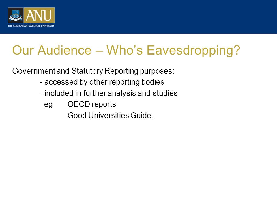 Our Audience – Whos Eavesdropping.