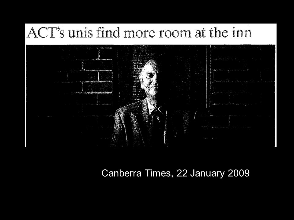 UC bus ad Canberra Times, 22 January 2009