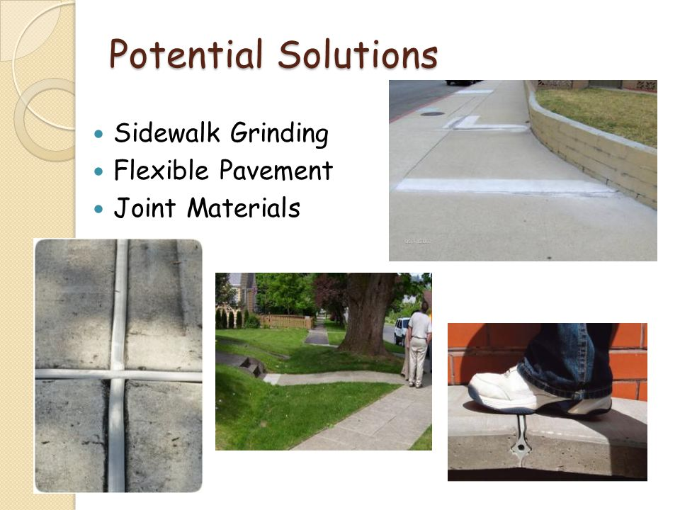 Potential Solutions Sidewalk Grinding Flexible Pavement Joint Materials