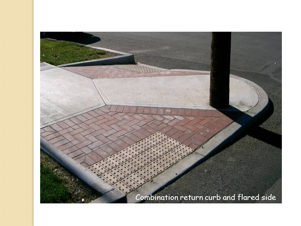 Combination return curb and flared side