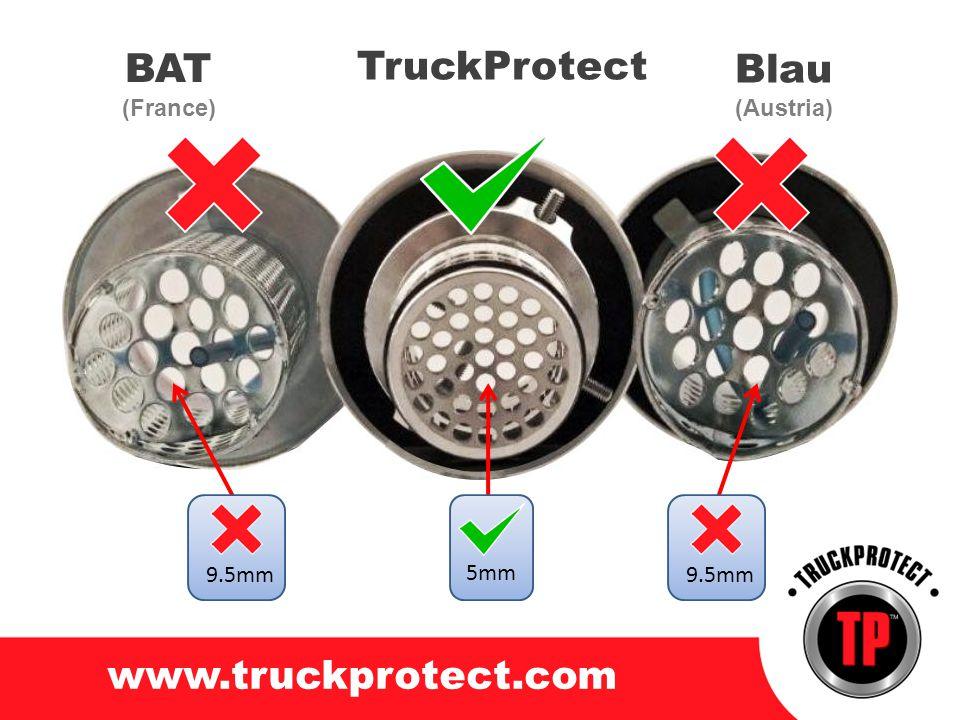 BAT (France) TruckProtect Blau (Austria) 5mm 9.5mm www.truckprotect.com