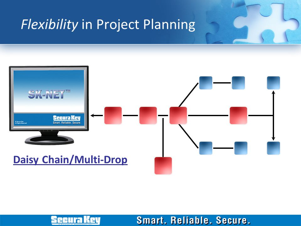Daisy Chain/Multi-Drop Flexibility in Project Planning