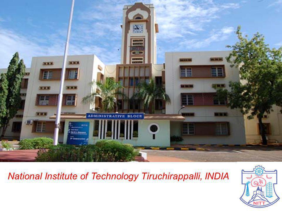 2 National Institute of Technology Tiruchirappalli, INDIA