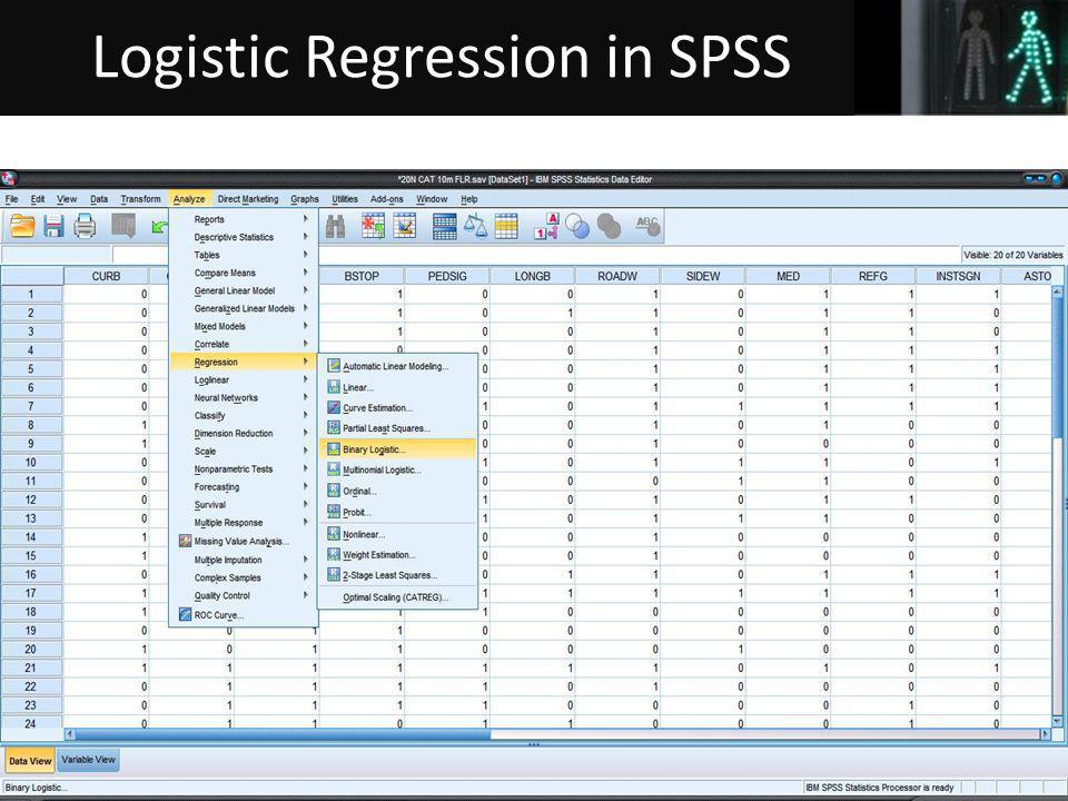 43 Logistic Regression in SPSS