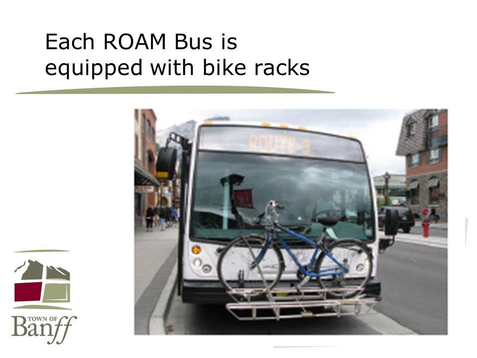 Each ROAM Bus is equipped with bike racks