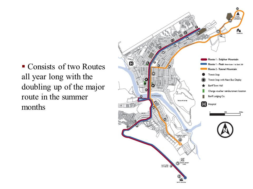 Consists of two Routes all year long with the doubling up of the major route in the summer months