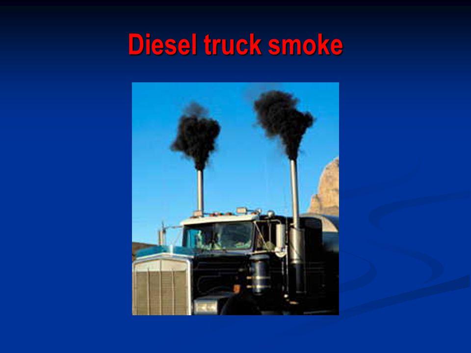 Diesel truck smoke