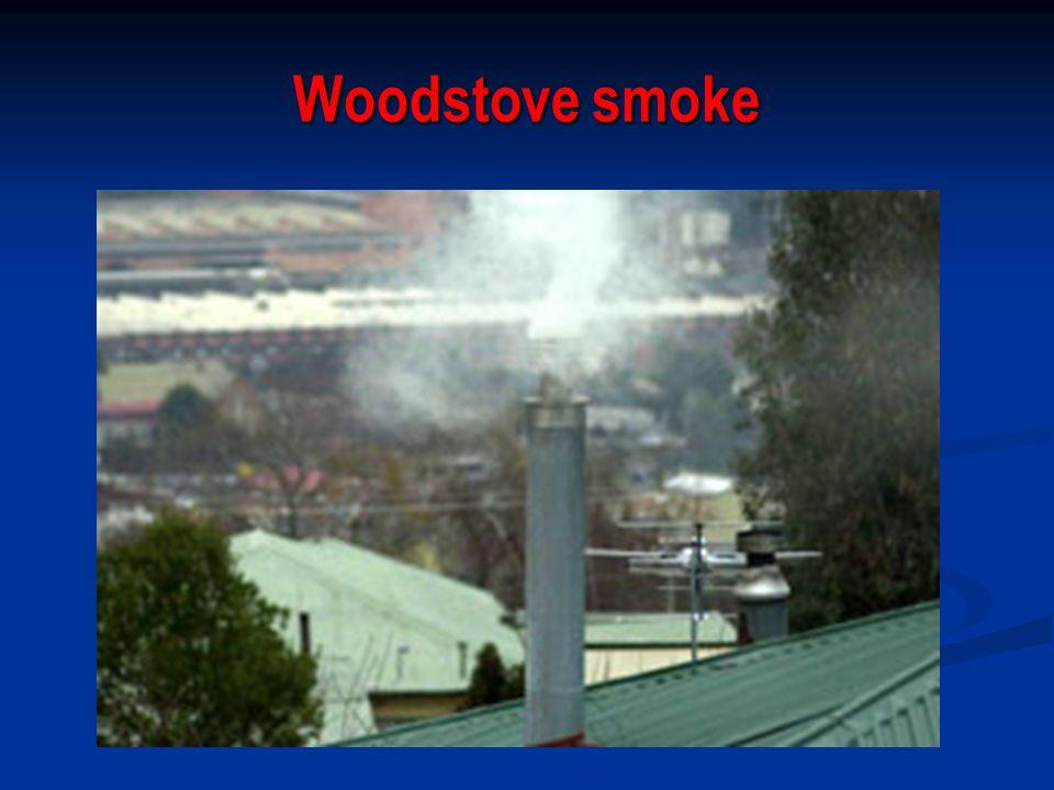Woodstove smoke