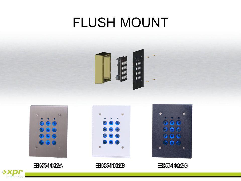 EX5M102A EX5M102BEX5M102G EX5102AEX5102CEX5102G FLUSH MOUNT