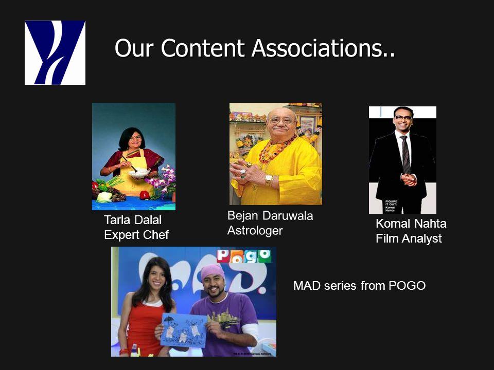 Our Content Associations.. Our Content Associations..
