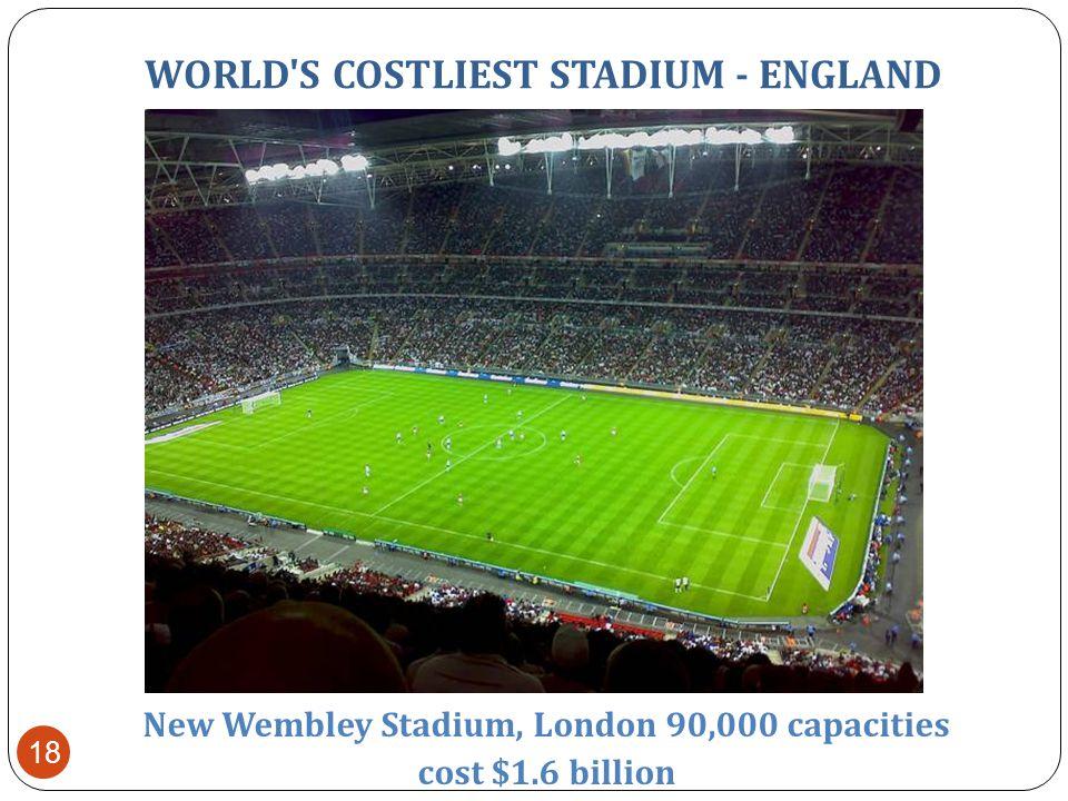 WORLD S BIGGEST STADIUM-BRAZIL Maracana stadium – rio d.J brazil capacity 199,000 17