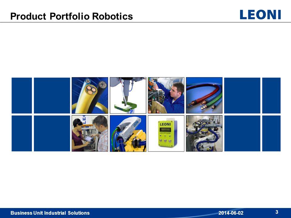 Business Unit Industrial Solutions 3 2014-06-02 Product Portfolio Robotics