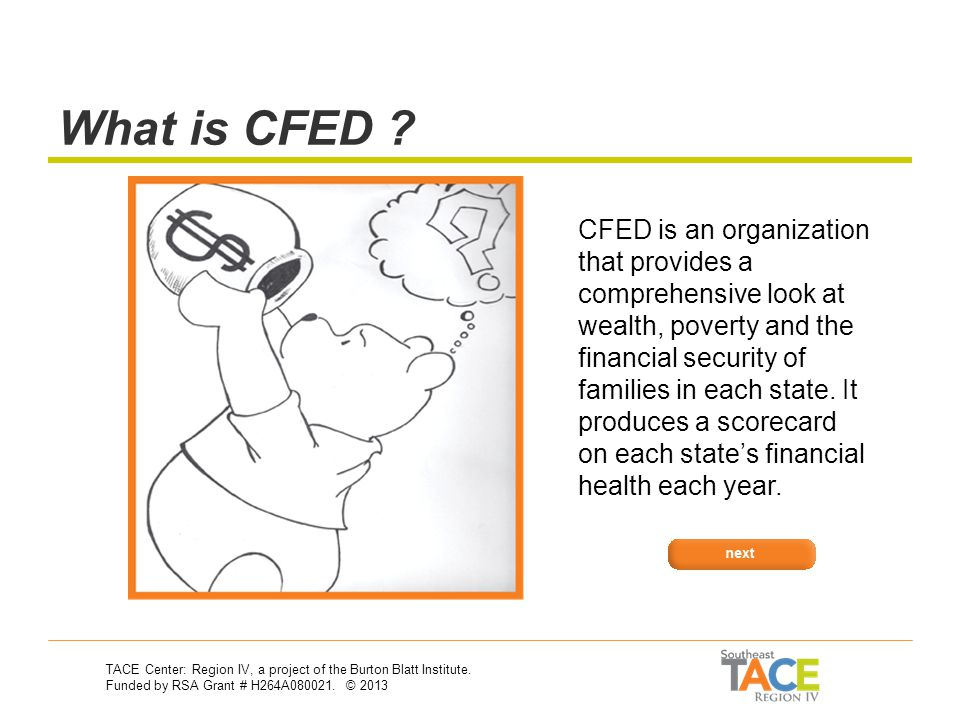Asset Development CFED: The Corporation for Enterprise Development Why should I care.