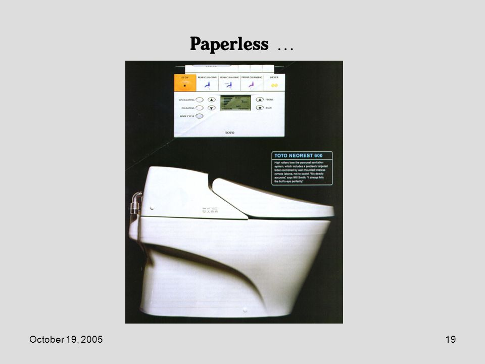 October 19, 200519 Paperless …