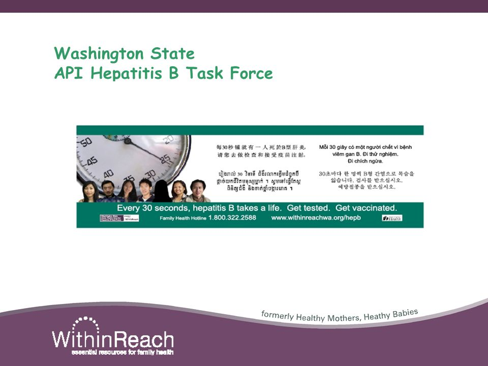 Washington State API Hepatitis B Task Force