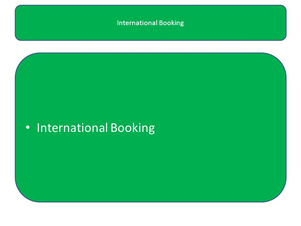 International Booking
