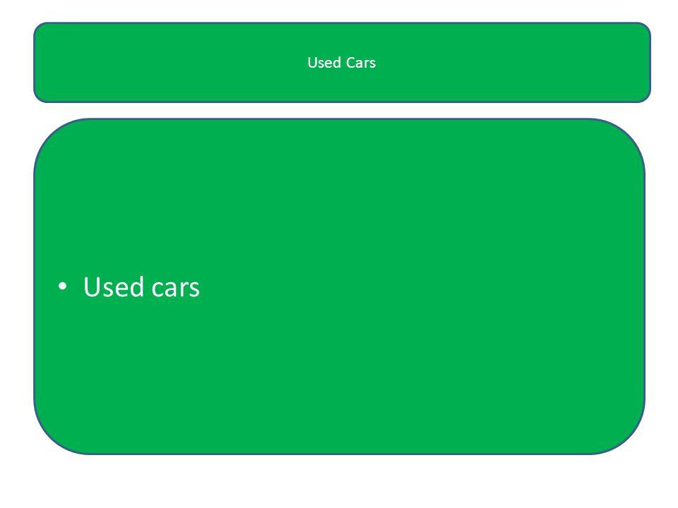 Used Cars Used cars