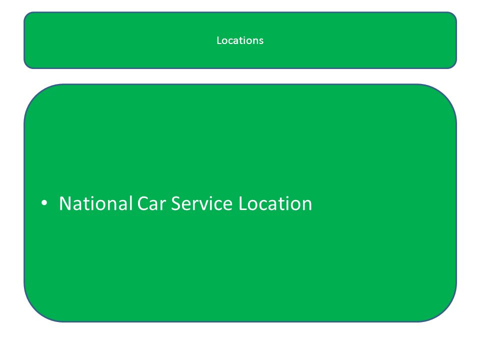 Locations National Car Service Location