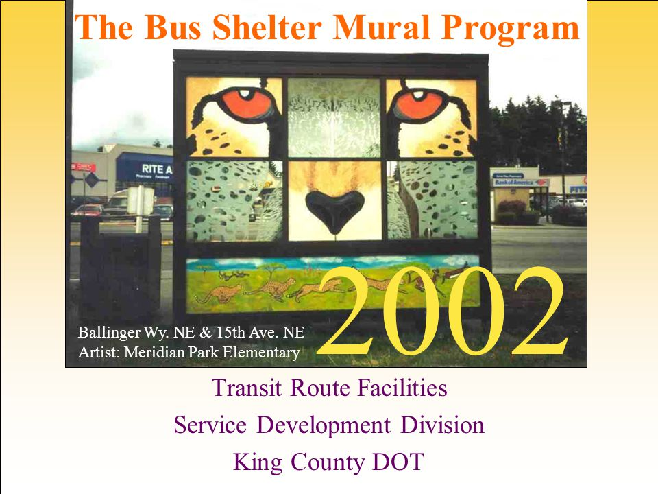 2002 Participating Community Groups and Sponsors Atlantic Street Center Boys & Girls Club of King Co.