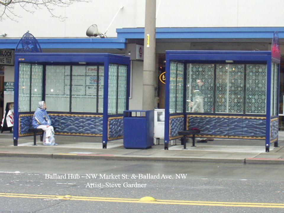 Ballard Hub - NW Market St. & Ballard Ave. NW Artist: Steve Gardner