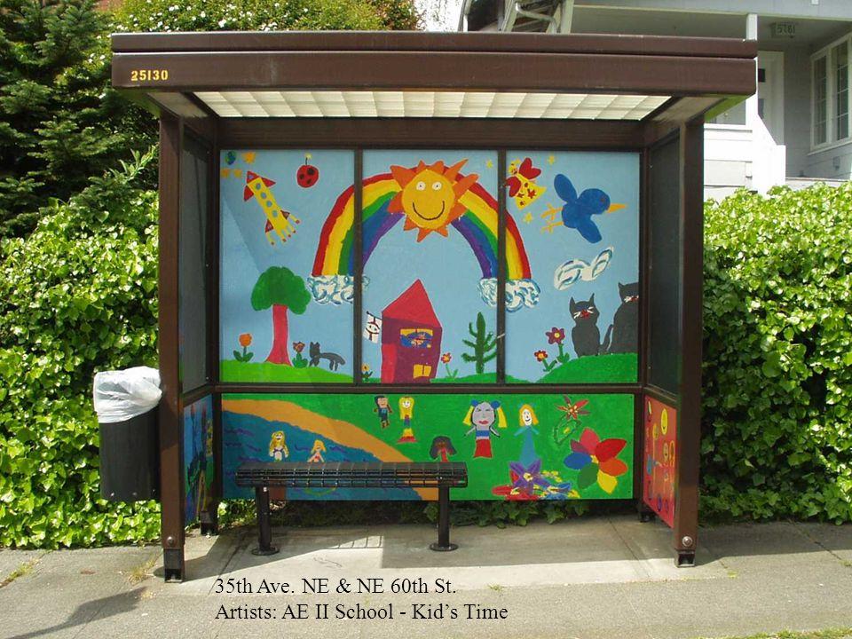 35th Ave. NE & NE 60th St. Artists: AE II School - Kids Time