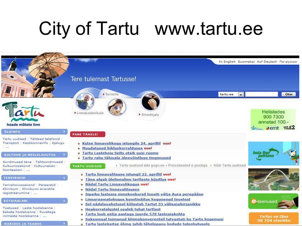 City of Tartu www.tartu.ee