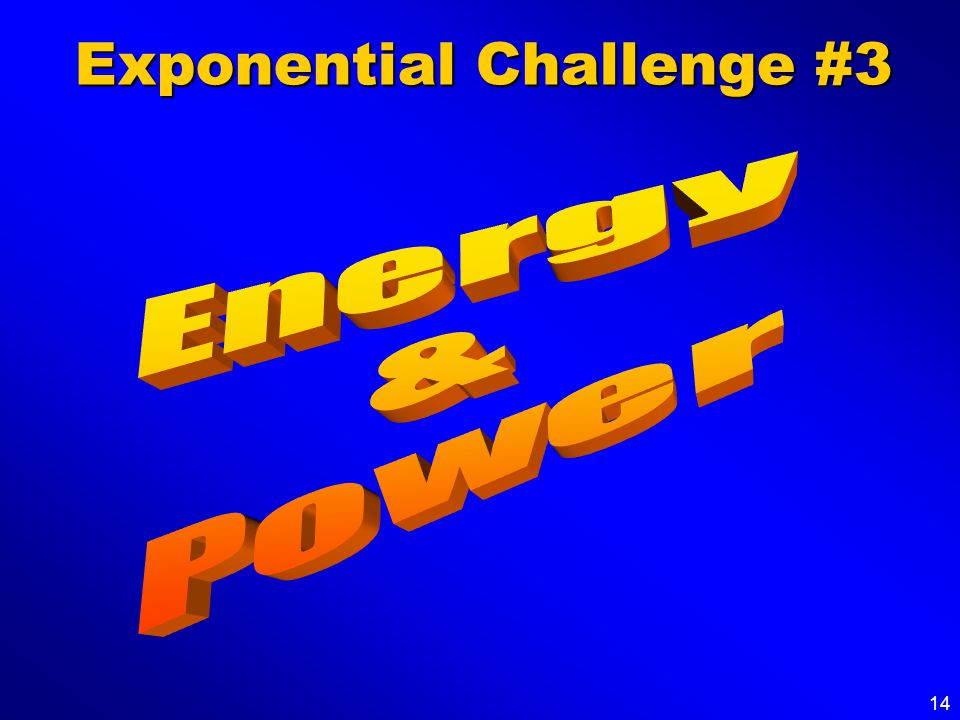 14 Exponential Challenge #3