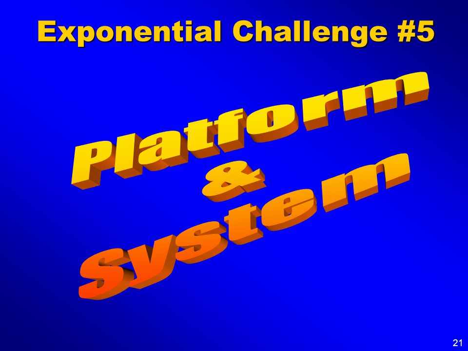 21 Exponential Challenge #5