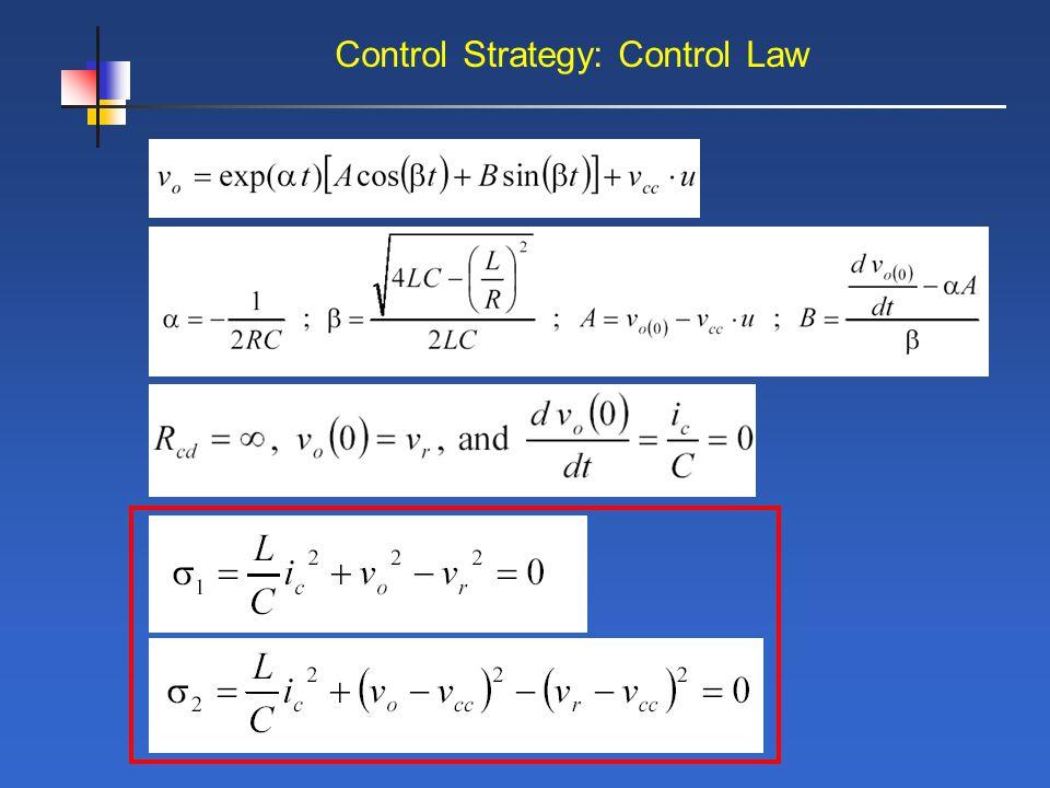 Control Strategy: Control Law