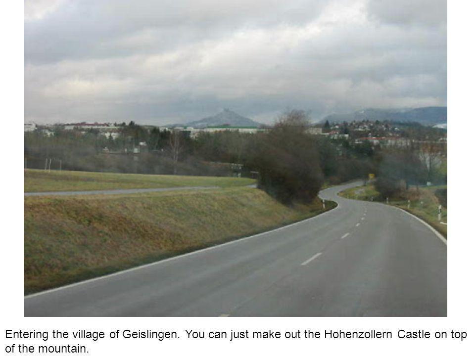 Entering the village of Geislingen.