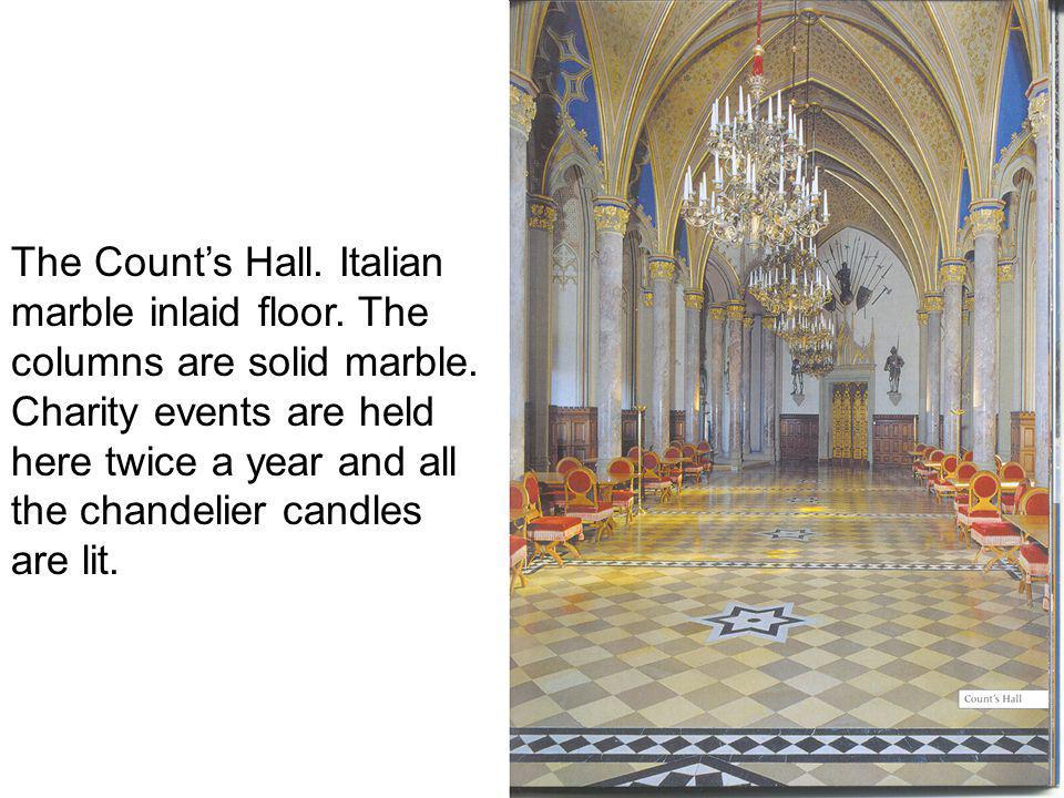 The Counts Hall.Italian marble inlaid floor. The columns are solid marble.