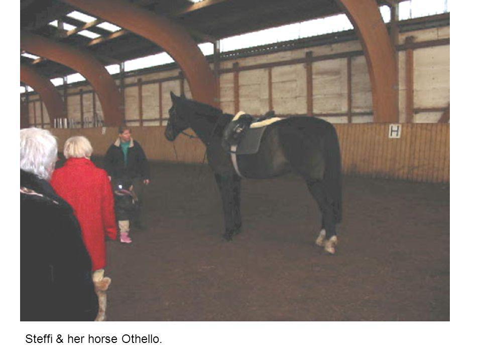 Steffi & her horse Othello.