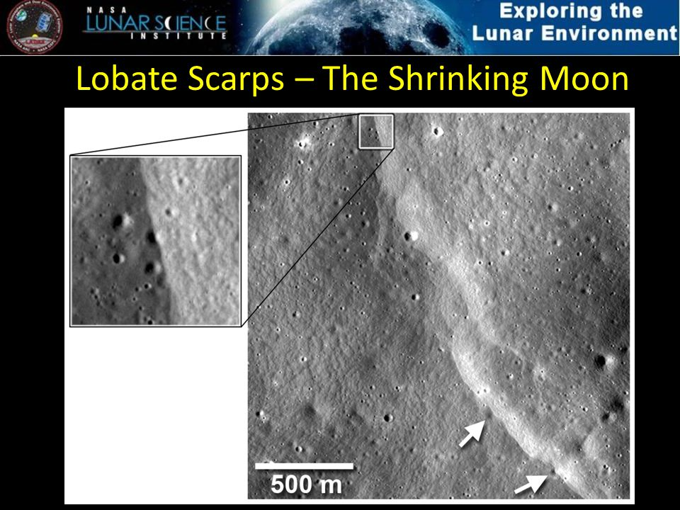 Lobate Scarps – The Shrinking Moon