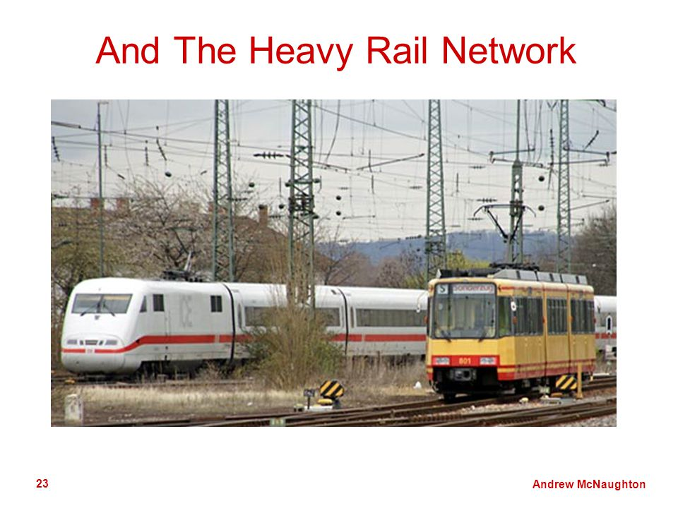 Andrew McNaughton 23 And The Heavy Rail Network