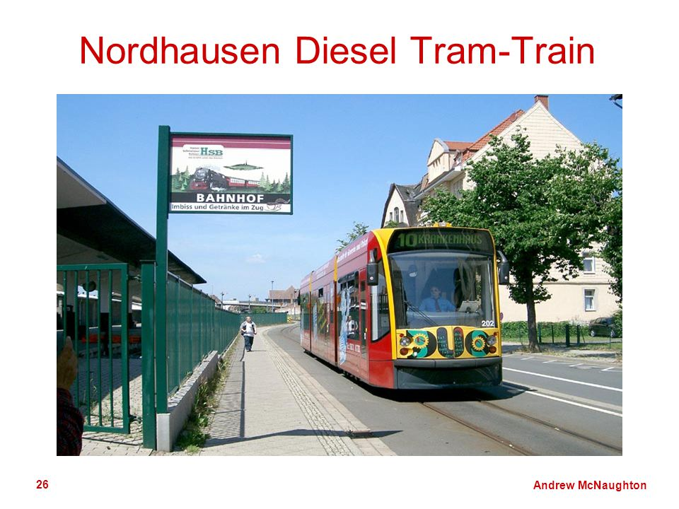 Andrew McNaughton 26 Nordhausen Diesel Tram-Train