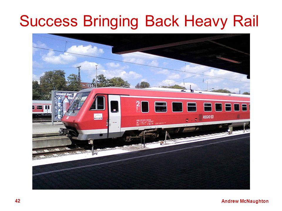 Andrew McNaughton 42 Success Bringing Back Heavy Rail