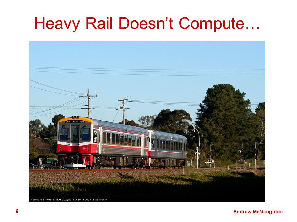 Andrew McNaughton 8 Heavy Rail Doesnt Compute…