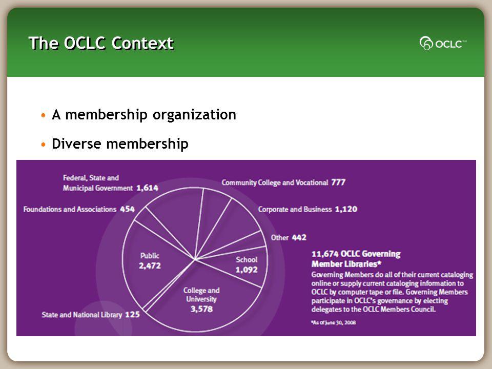 A membership organization Diverse membership