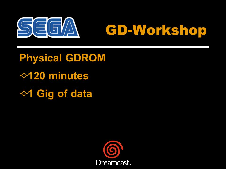 GD-Workshop Physical GDROM 120 minutes 1 Gig of data