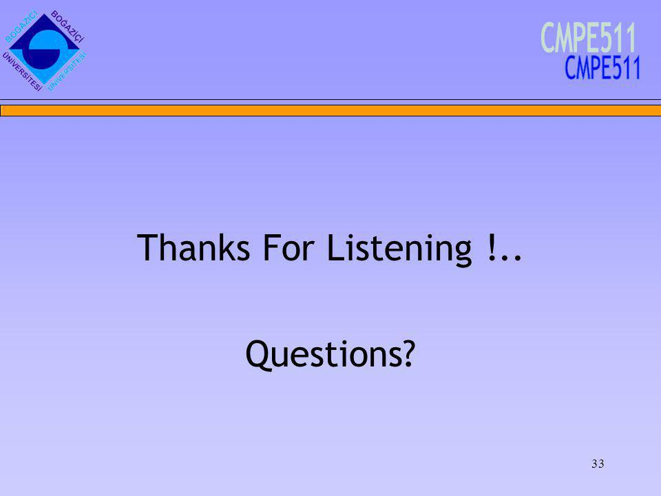 33 Thanks For Listening !.. Questions
