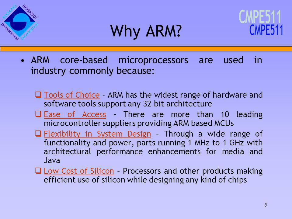 5 Why ARM.