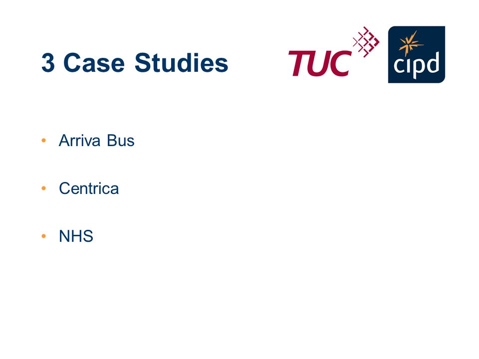 3 Case Studies Arriva Bus Centrica NHS
