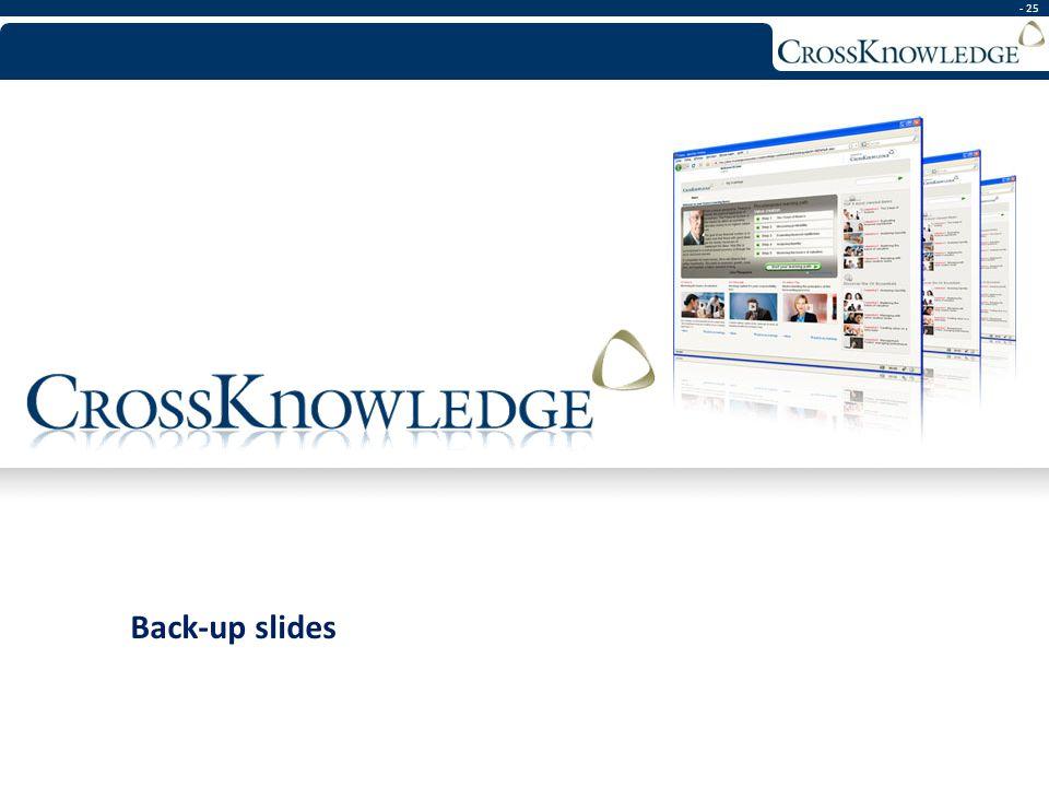 - 25 Back-up slides