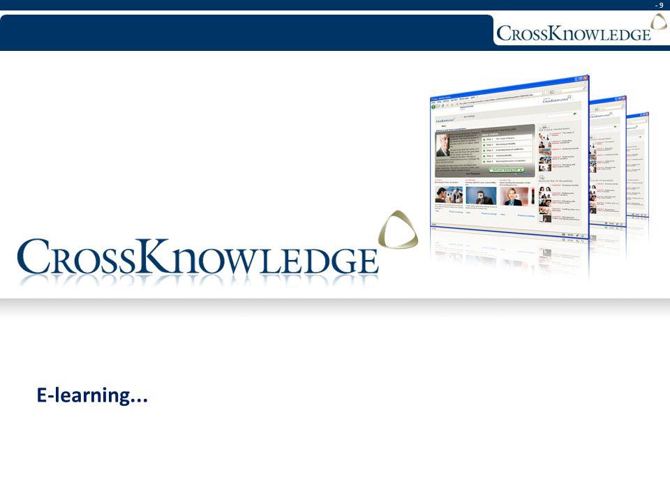 - 9 E-learning...