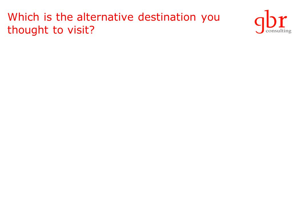 Which is the alternative destination you thought to visit