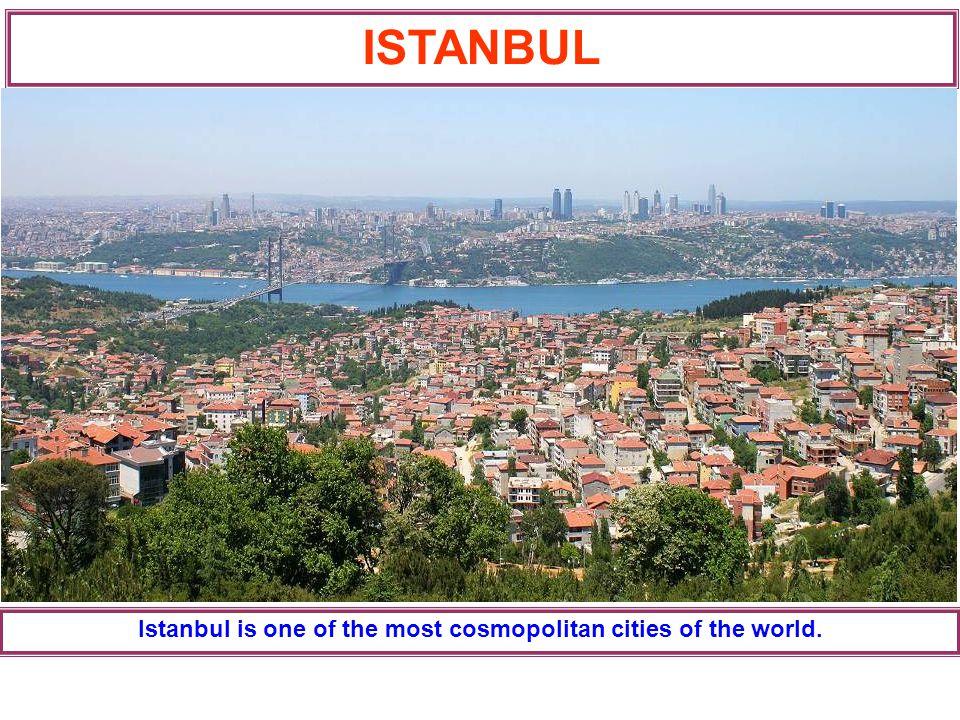 It ıs a cıty where the contınents and dıfferent cultures meet
