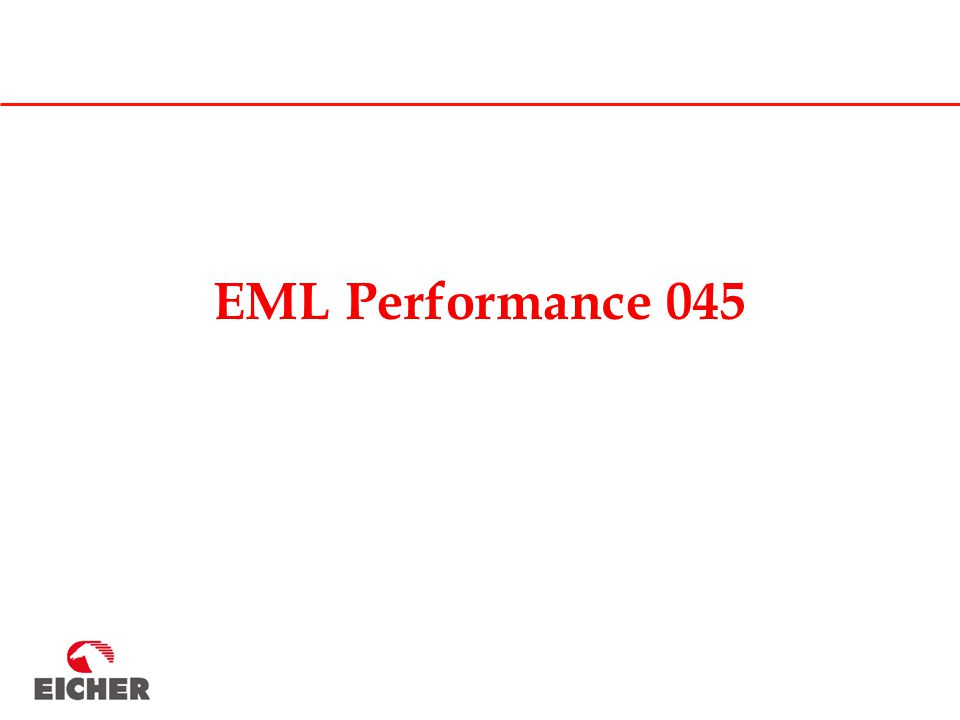 EML Performance 045