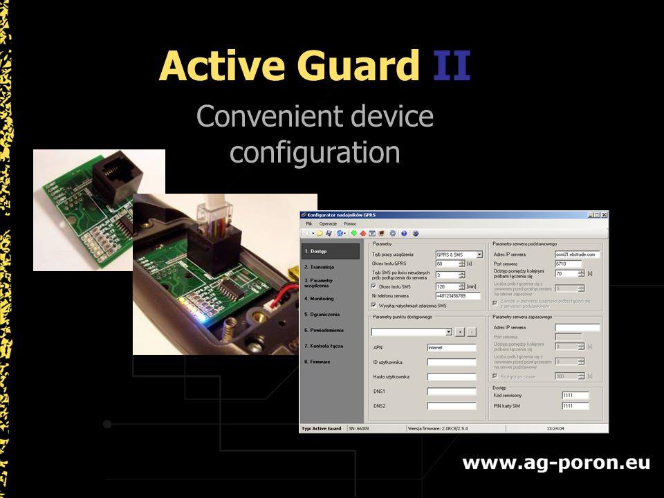 Active Guard II Convenient device configuration